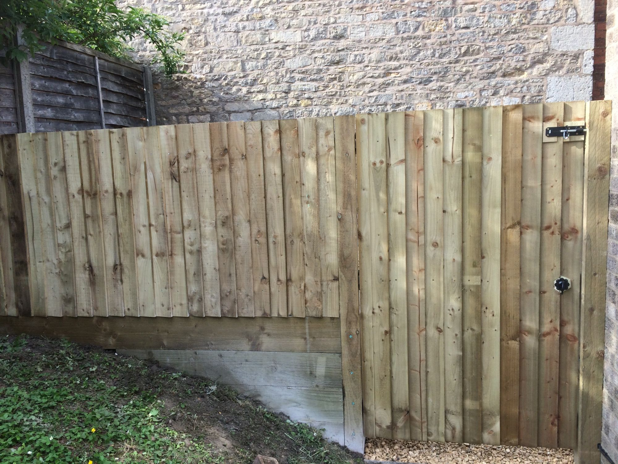 Small Timber Gate & Fence