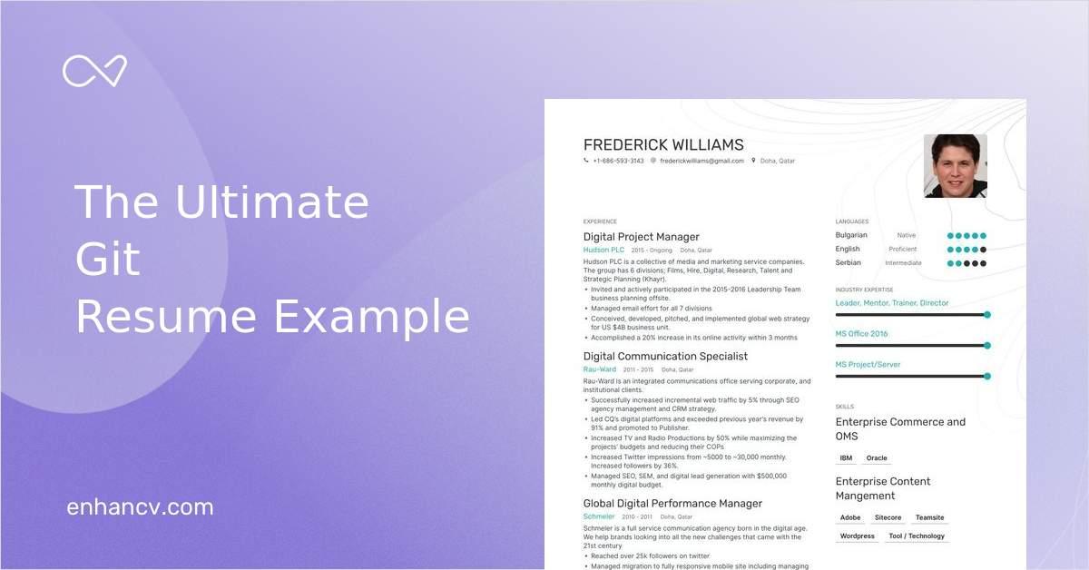 Download Git Resume Example For 2020 Enhancv Com