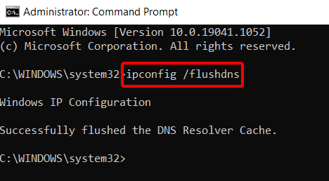 steps to flush dns cache using command prompt