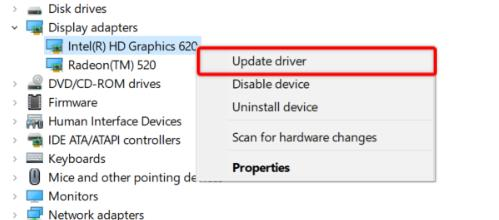 detailed steps to update the Windows graphics drivers