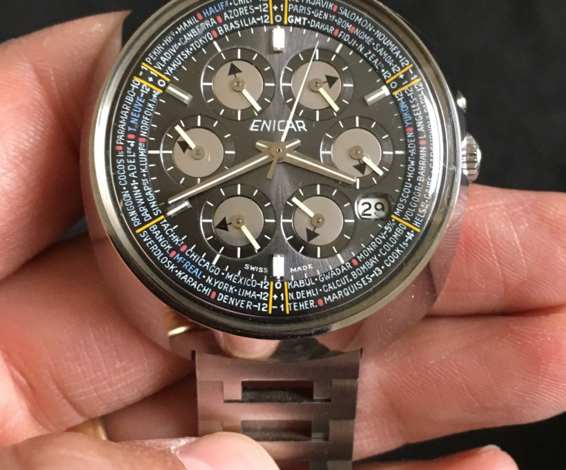 The discovery of the Enicar Sherpa World Time 'Kaleidoscope' from 1967