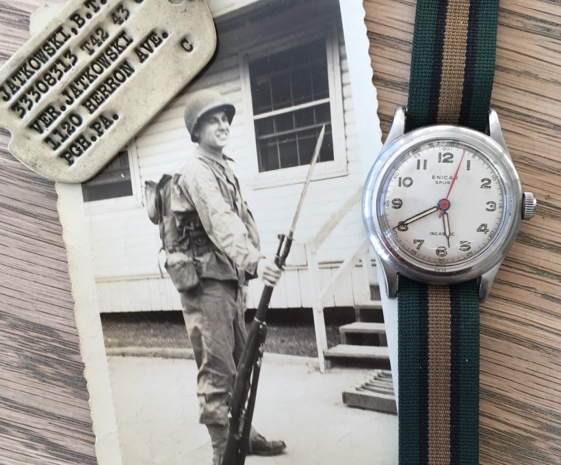 WWII soldier B.T. Jatkowski and his Enicar Sport