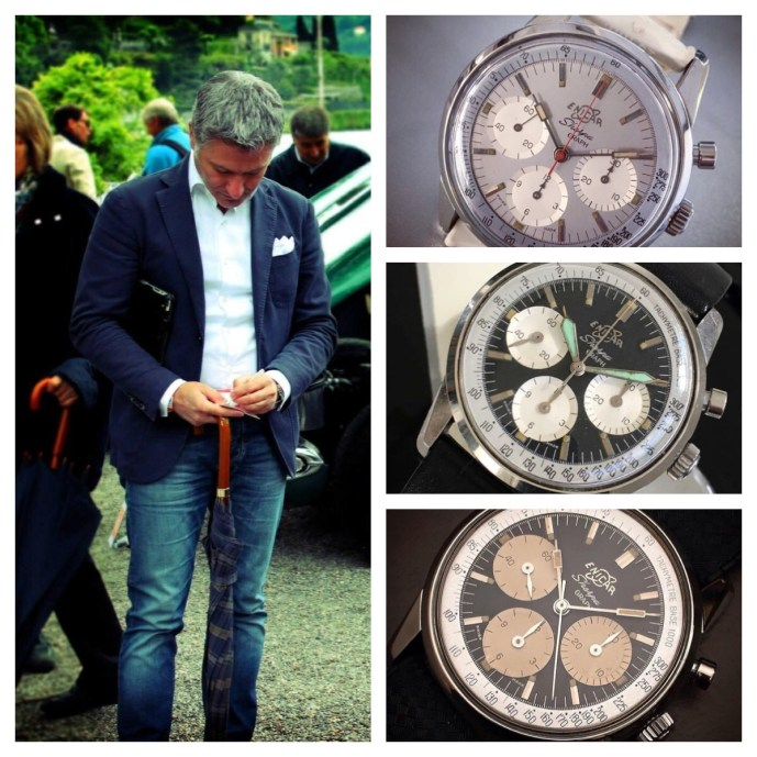 Gianvittorio and some of his chronographs