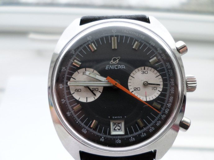 Enicar 232 Lausanne blue dial