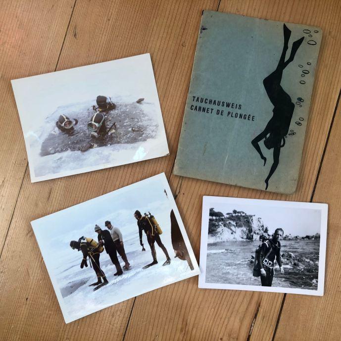 Original photos of Eduard the police dive instructor