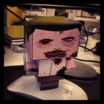 Cubeecraft Zombie after assembly