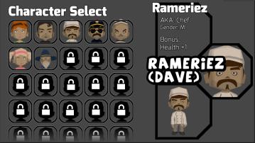 Character select mock up