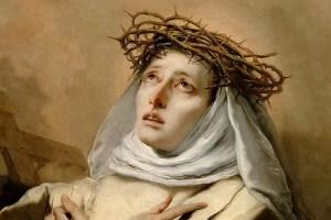 Učitelka církve Kateřina Sienská. I její ostatky jsou prý zázračné