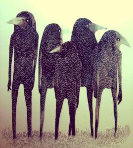 Tvrdil, že viděl křížence lidí a ptáků. Setkal se s nimi cestou na francouzský venkov