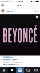 Beyonce uses Instagram to launch album