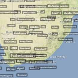 Trendsmap South Africa - 14 February 2015