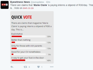 Marie Claire Poll 2