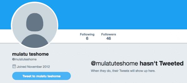 Mulatu Teshome Twitter Feed   July 2017