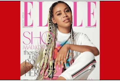 Sho Madjozi on Elle Cover