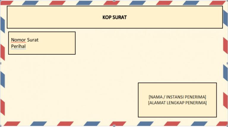 draft amplop surat