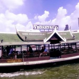 完全無料!【バンコク・暇つぶし】高級ホテル「ペニンシュラ・バンコク」で夕涼み。専用船でチャオプラヤ川を渡る。