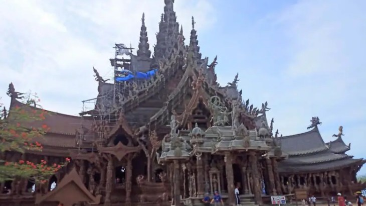 観光【パタヤ】荘厳!アジアのサクラダファミリア!木造寺院「サンクチュアリオブトゥルース」