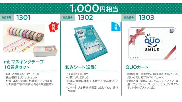 萩原工業の株主優待「オリジナルカタログ」