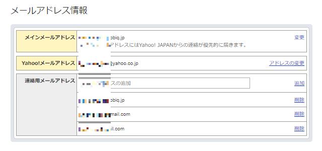 メールアドレス情報