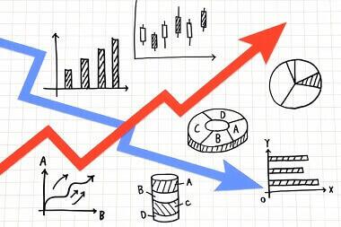 株価の変動イメージ