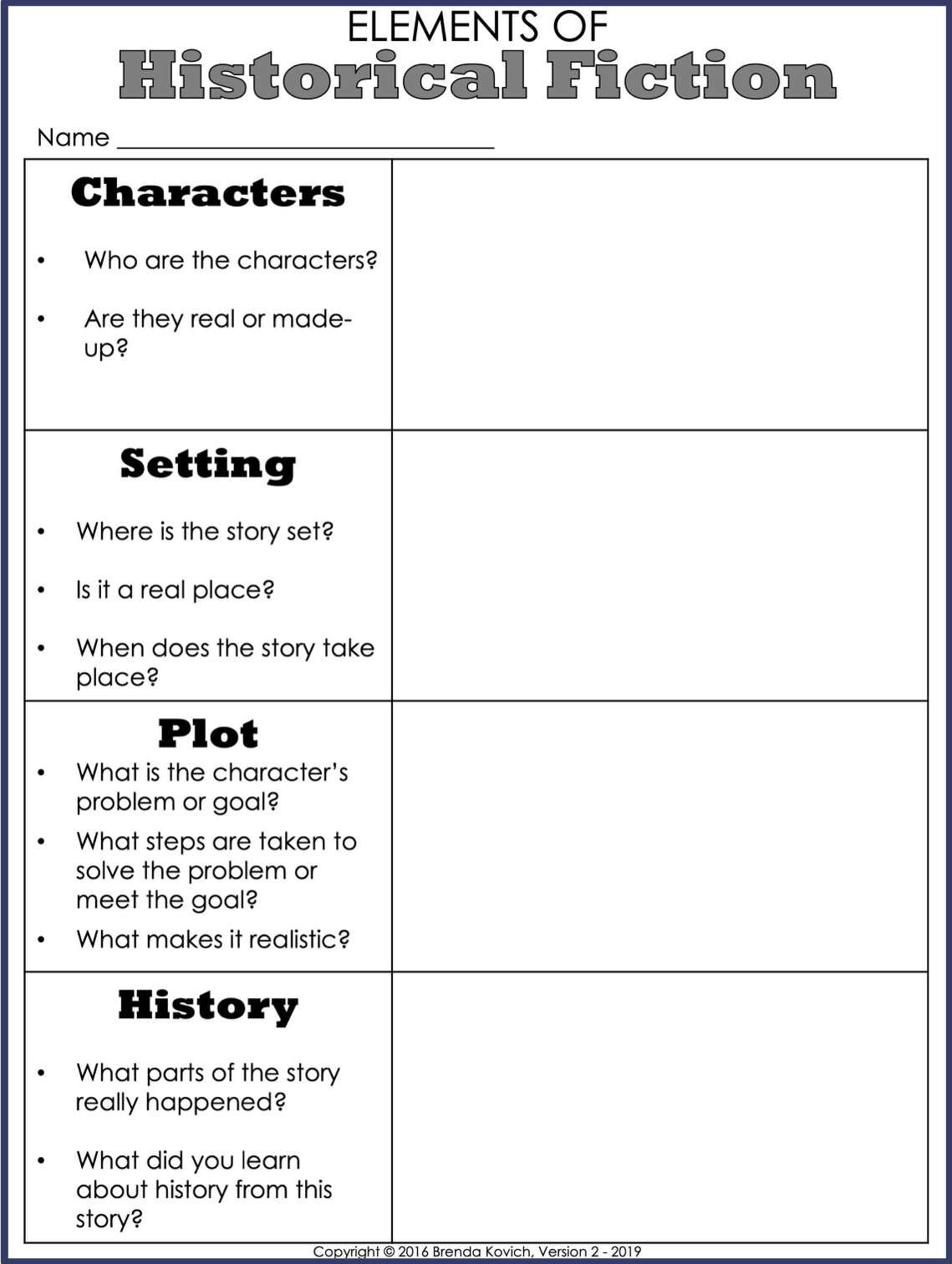 Teaching Historical Fiction With Reading Activities For