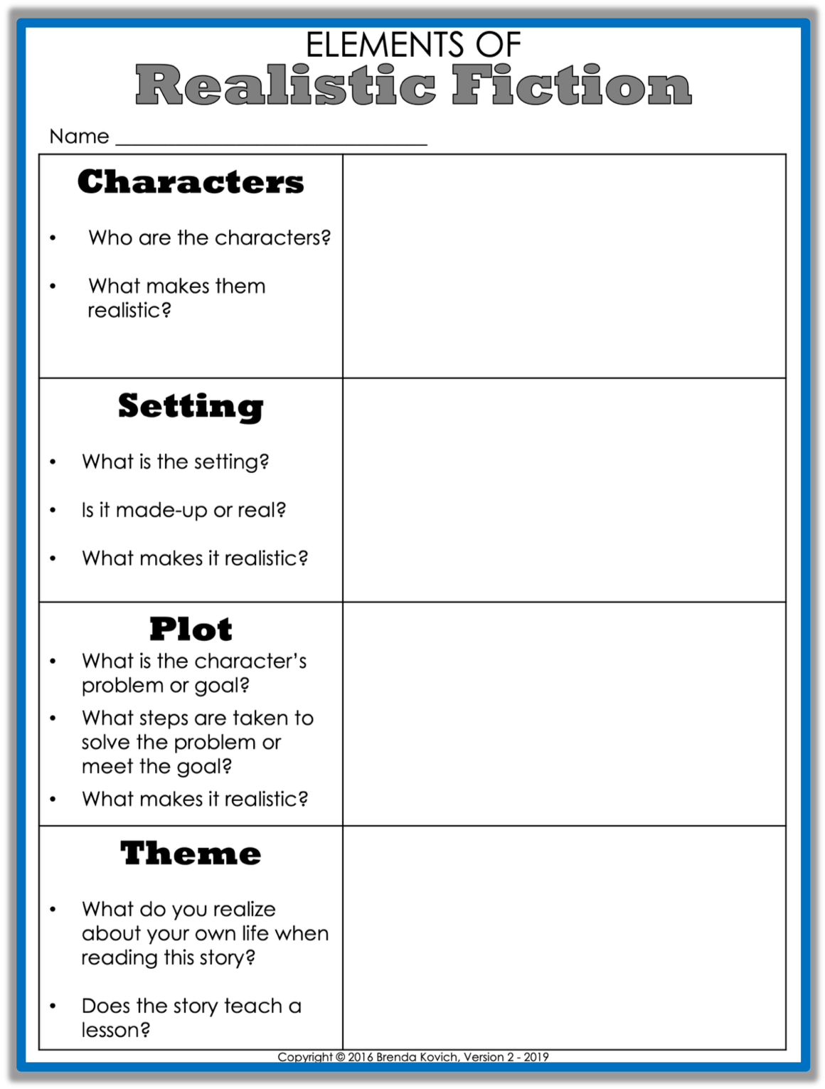 Teaching Realistic Fiction With Reading Activities For