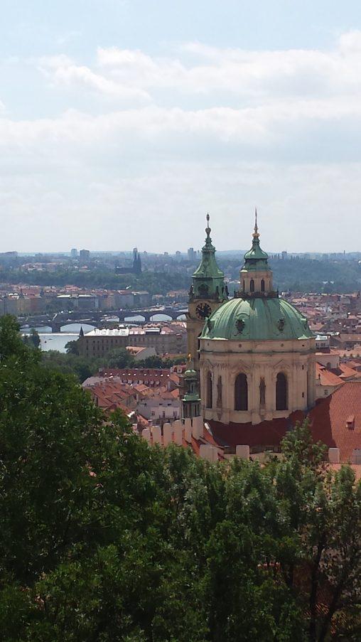 Blick vom Alten Königspalast über Prag