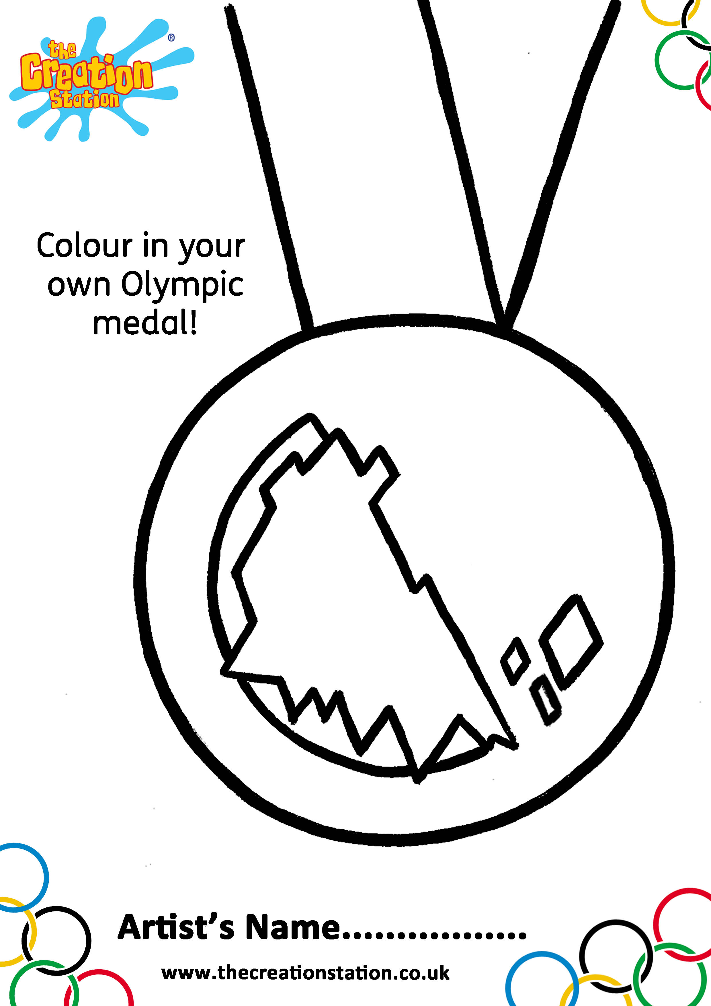 Colour And Create Your Own Olympics Medal