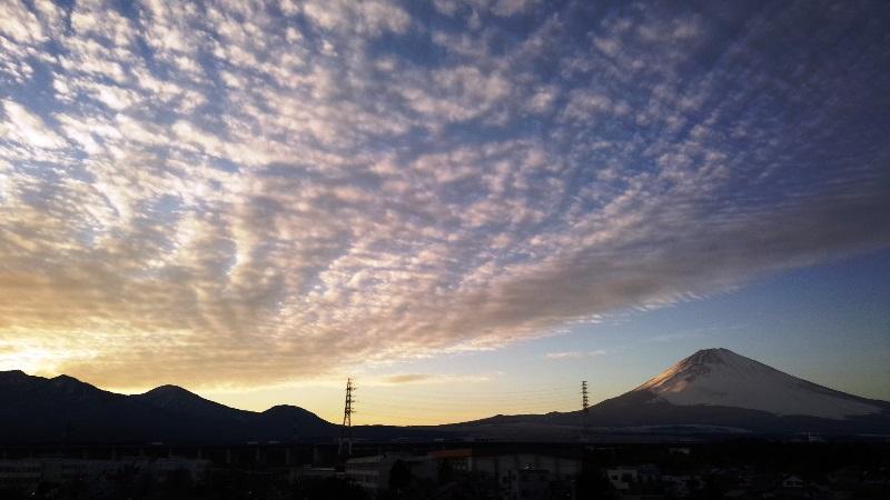 屋上からの富士山 梅の屋 女富士