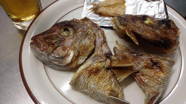 鯛づくし 鯛のかぶと焼き 焼き上がり