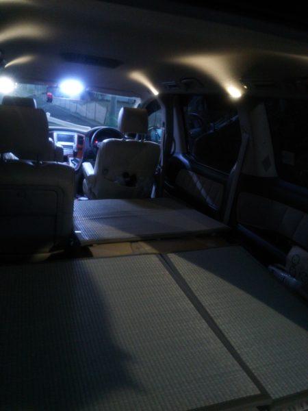 DIYした車中泊用ベッド(五代目:マットレス&ユニット畳)…最終系