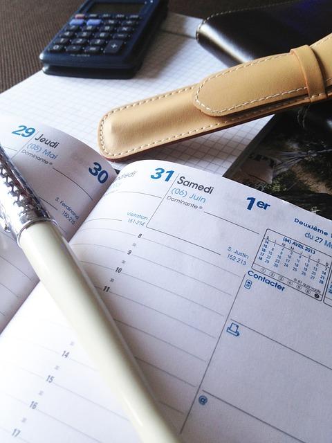 手帳と筆記用具