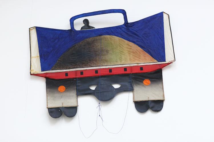 """""""Lastbil"""", 1973, akvarellskulptur, drake - konstverk av Curt Asker."""