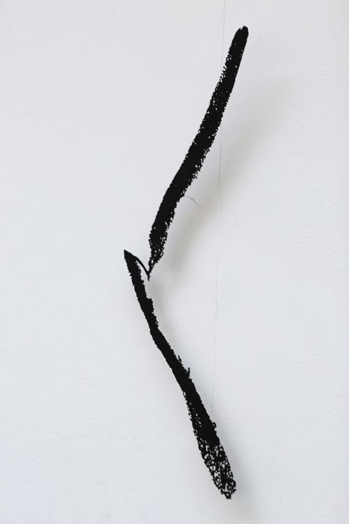 """""""Ljus i en dal"""", 2002, etsat fiberstål + akryl, konstverk av Curt Asker."""