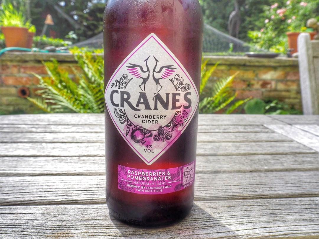 Raspberries & Pomegranates Cranes Cider