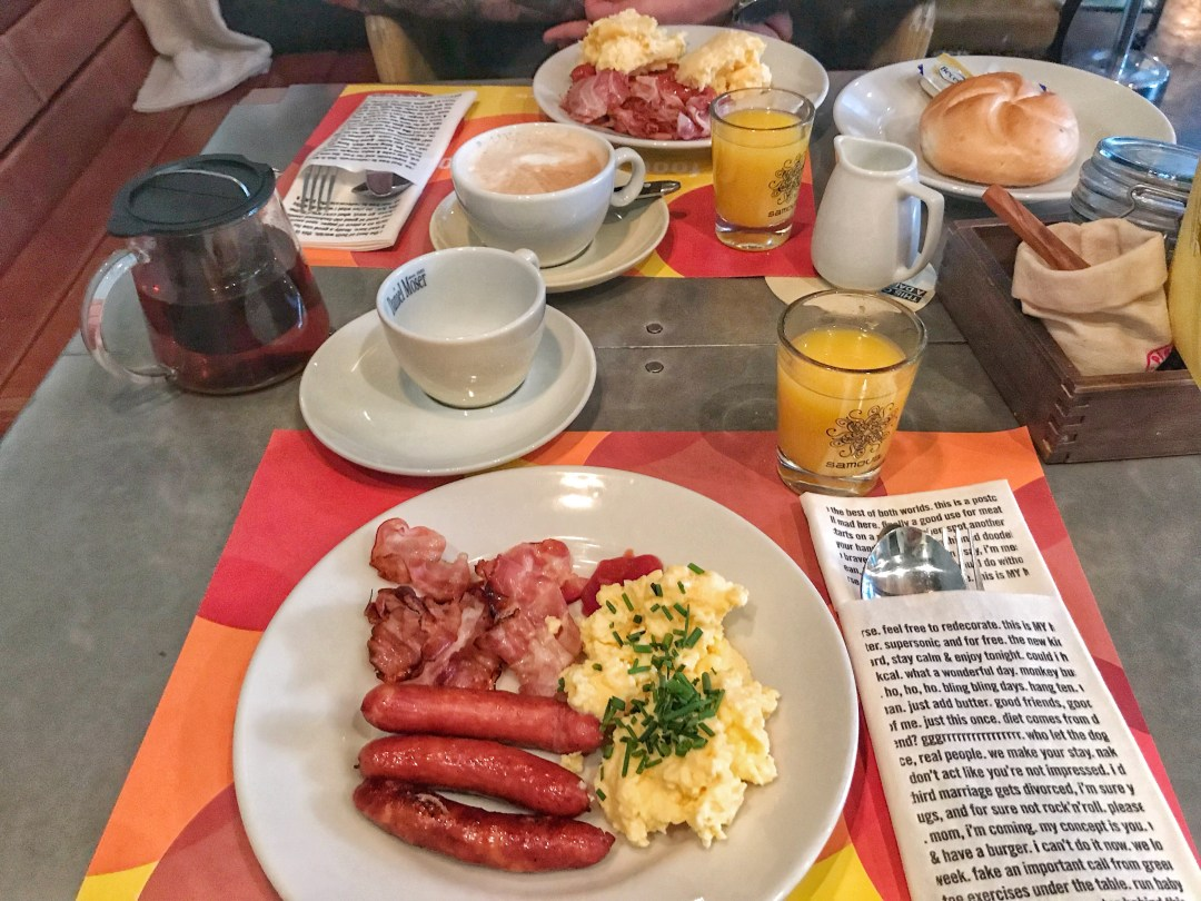 Quirky Circus Themed Hotel - 25hours Vienna at MuseumsQuartier Buffet Breakfast eggs