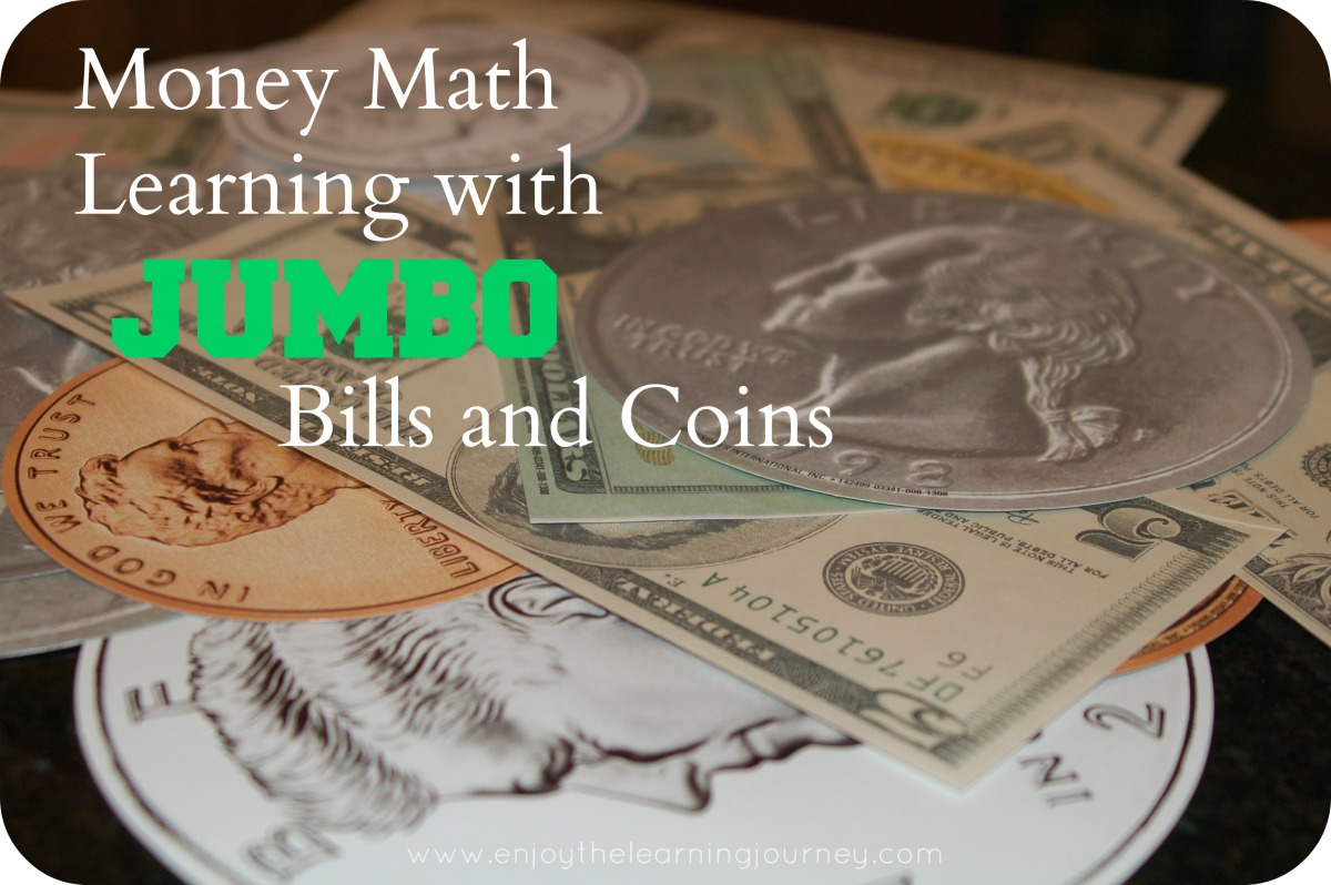 Money Math Learning With Jumbo Bills Amp Coins