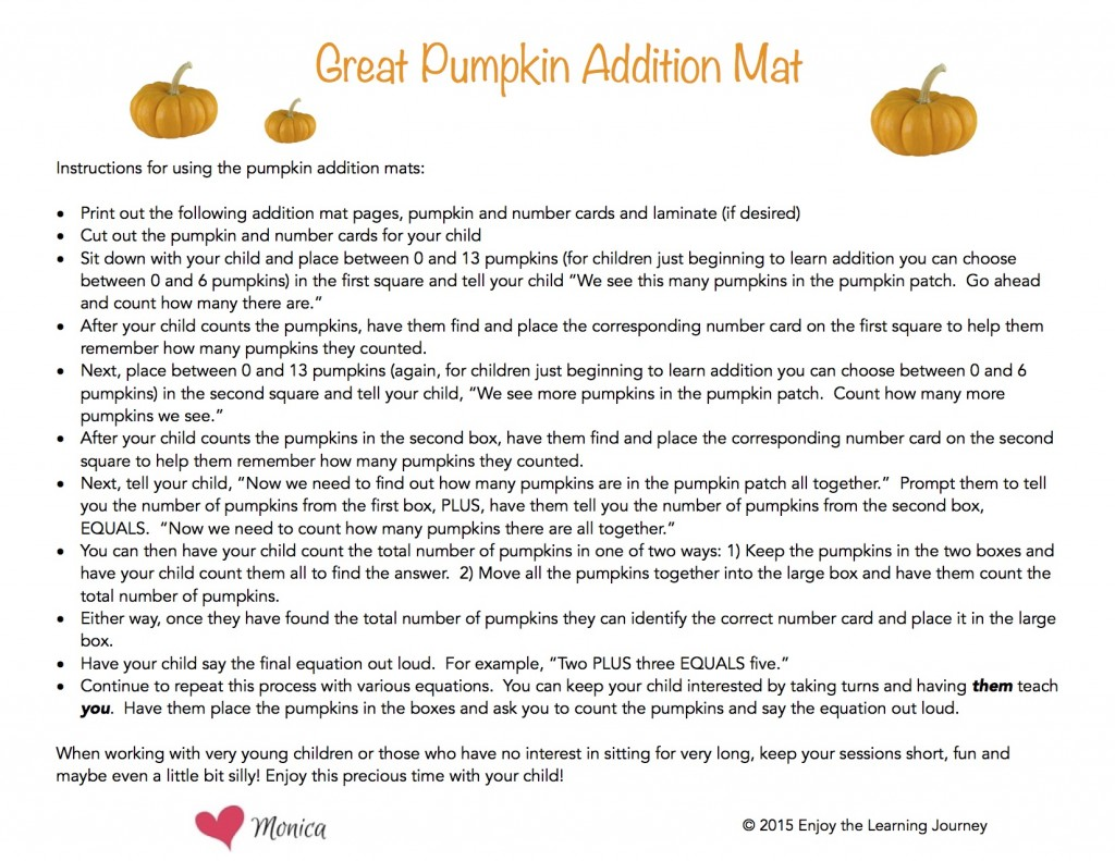It S The Great Pumpkin Charlie Brown Addition Activity With Free Printable