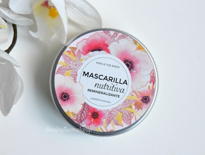 Mascarilla nutritiva remineralizante de Vera & the Birds
