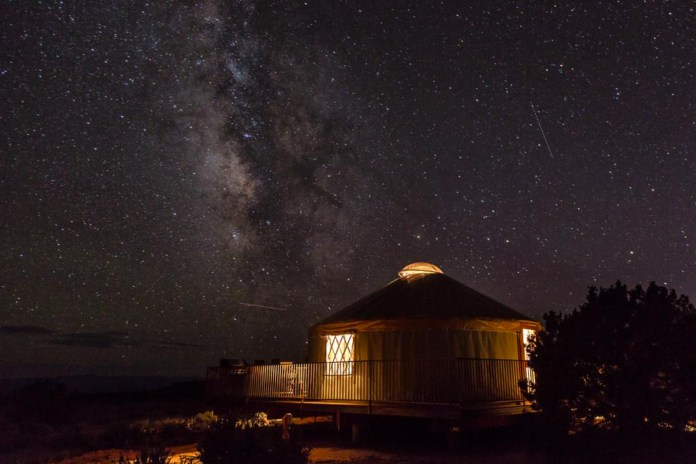 Dead Horse Yurts and Night Sky