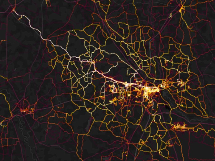 Strava Heatmap Trail