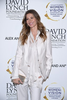 """NEW YORK, NY - MAY 09: Model Gisele Bundchen attends David Lynch Foundation Hosts """"Women of Vision Awards"""" at 583 Park Avenue on May 9, 2017 in New York City. (Photo by Dimitrios Kambouris/Getty Images for David Lynch Foundation)"""