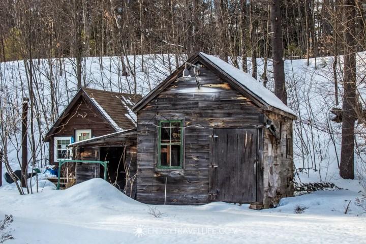 Winter in Bethel Maine | Rustic Shack