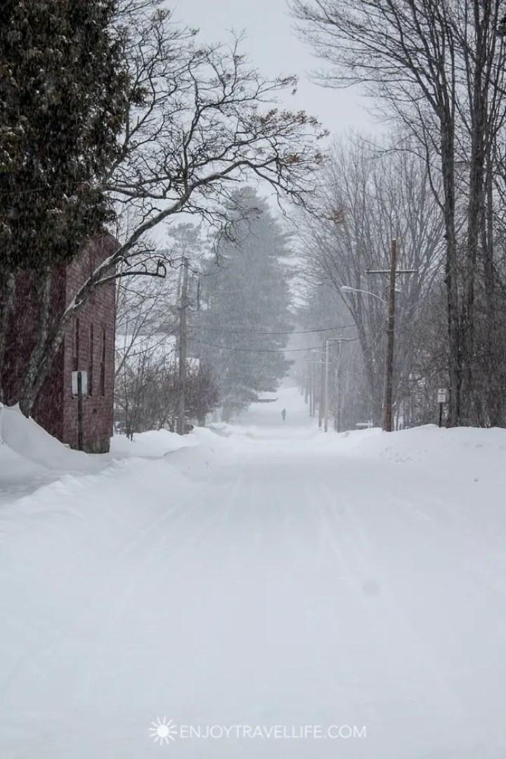 Winter in Bethel Maine | Snowy Walk