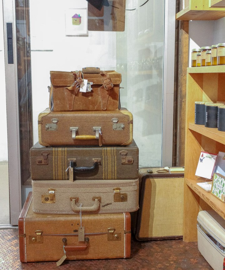 California's Largest Used and New Book and Record Store - Vintage Luggage