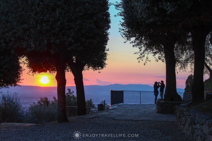 Sunset over Florence Italy - Fiesole lovers