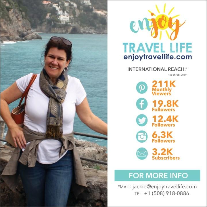 Enjoy Travel Life Blog Reach Jackie Gately Travel Writer