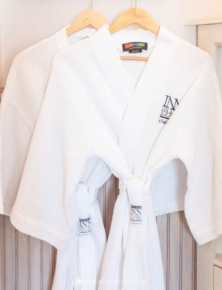 Luxury bathrobes at Inn on the Sound
