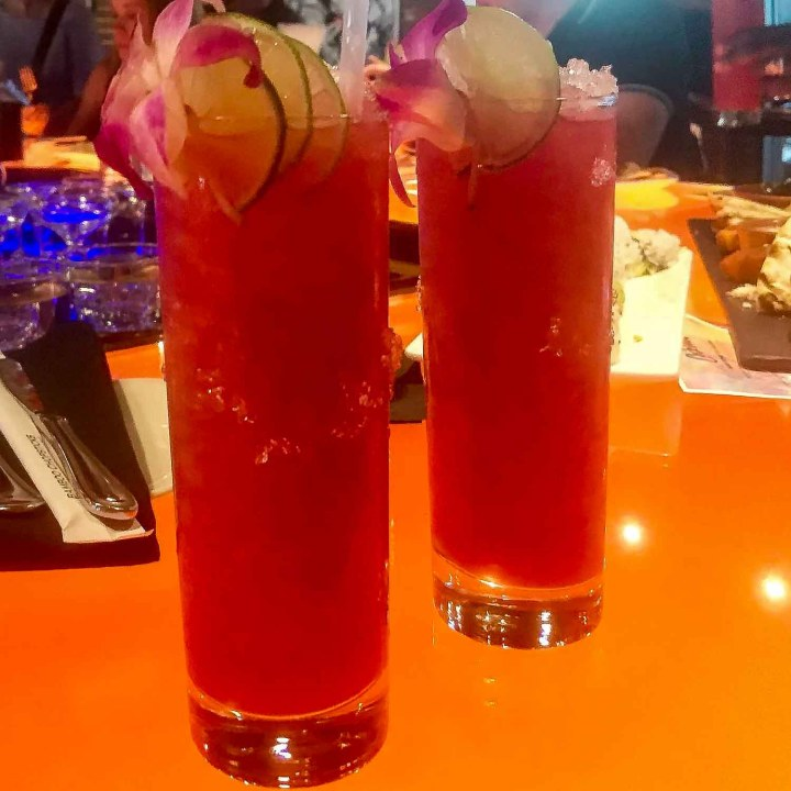 Hibiscus cocktail at Opus, Salem MA