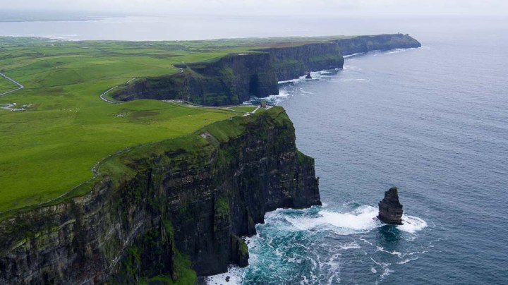 Scenic cliffs: holiday rentals in Portrush Ireland